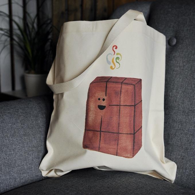 Chocolate bar tote bag