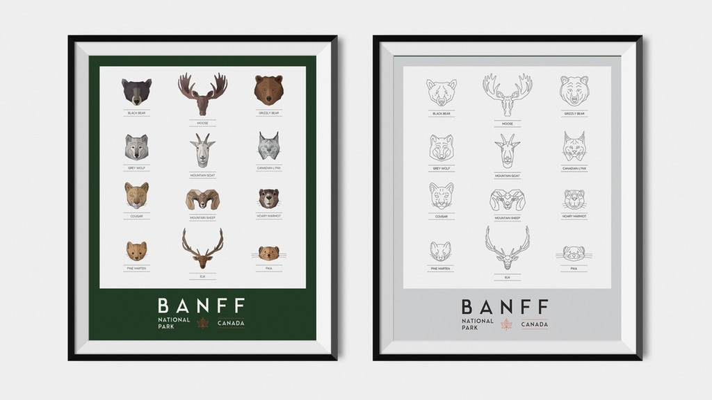 Banff National Park Illustration Print
