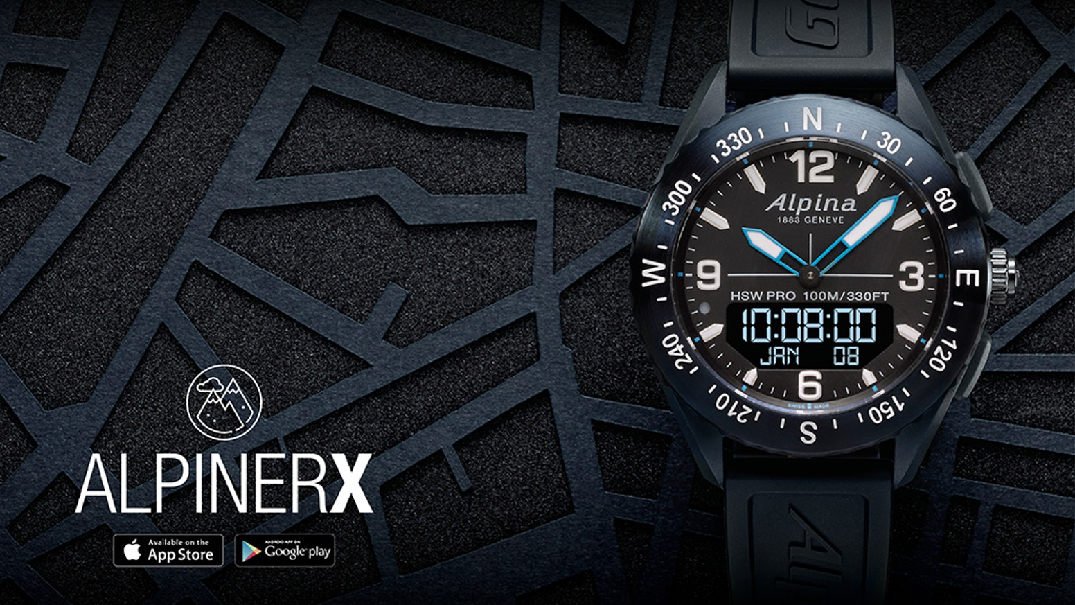 The perfect blend of Alpina Heritage and Modernism into the world's most beautiful Outdoors Smartwatch.