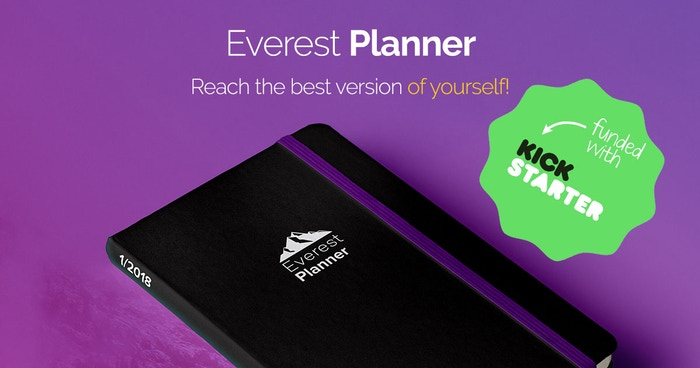 All-In-One planner to help you set goals, get organized and increase productivity. ALSO for every planner sold, we´ll plant a tree!