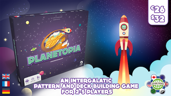 PLANETOPIA: A deck and pattern building game for 2-5 players