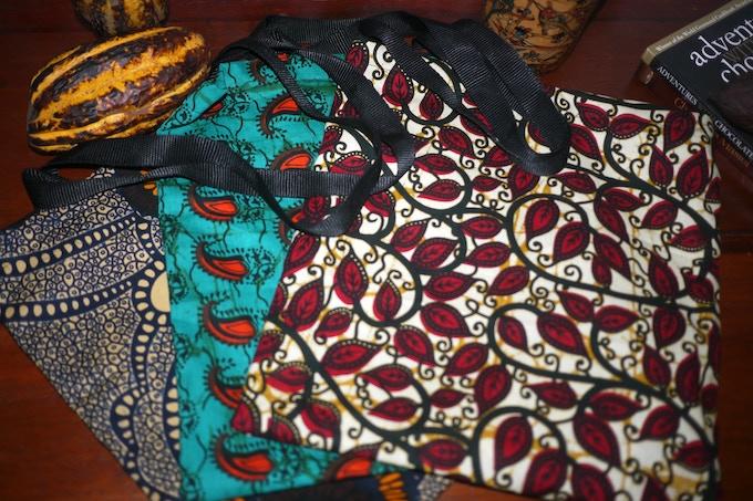 moonbean chocolate's kitenge tote-bags