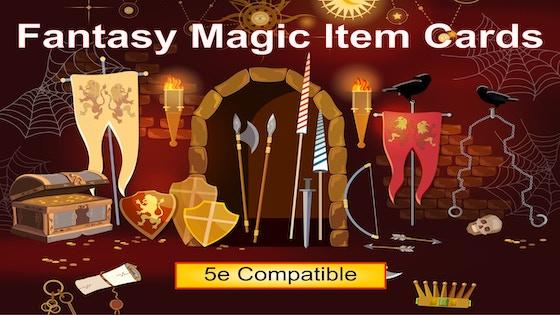 Fantasy Magic Item Cards: RPG Items for 5E