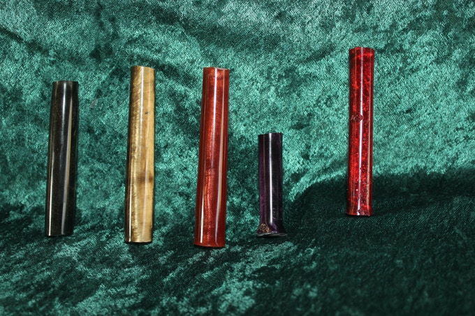 Black, Gold, Copper, Purple, and Red Dragon pen blanks