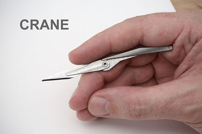 The Crane fits perfectly under the curve of your finger, for comfort and control.