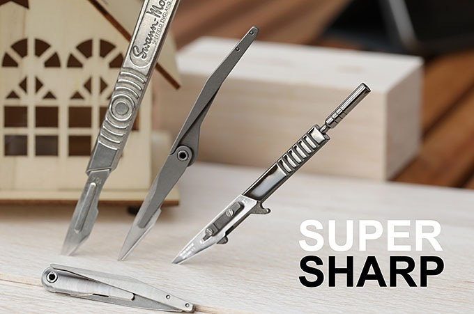 Scalpel blades are the sharpest blades in the world. Take extra care when using one.