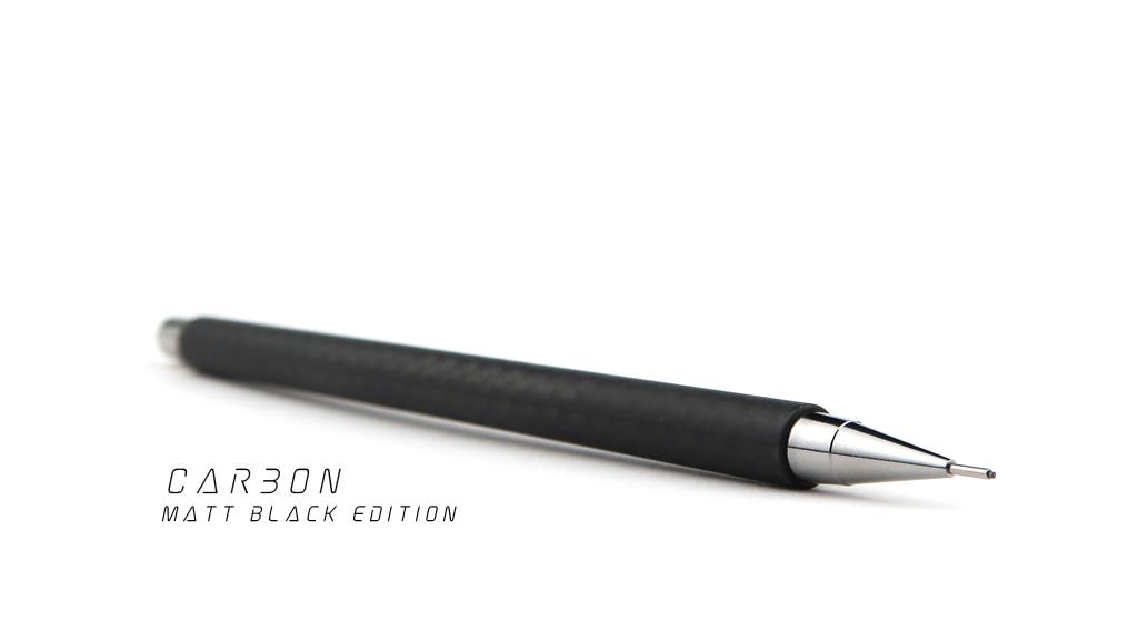 Matte Black Edition Handmade Carbon Fiber Mechanical Pencil project video thumbnail