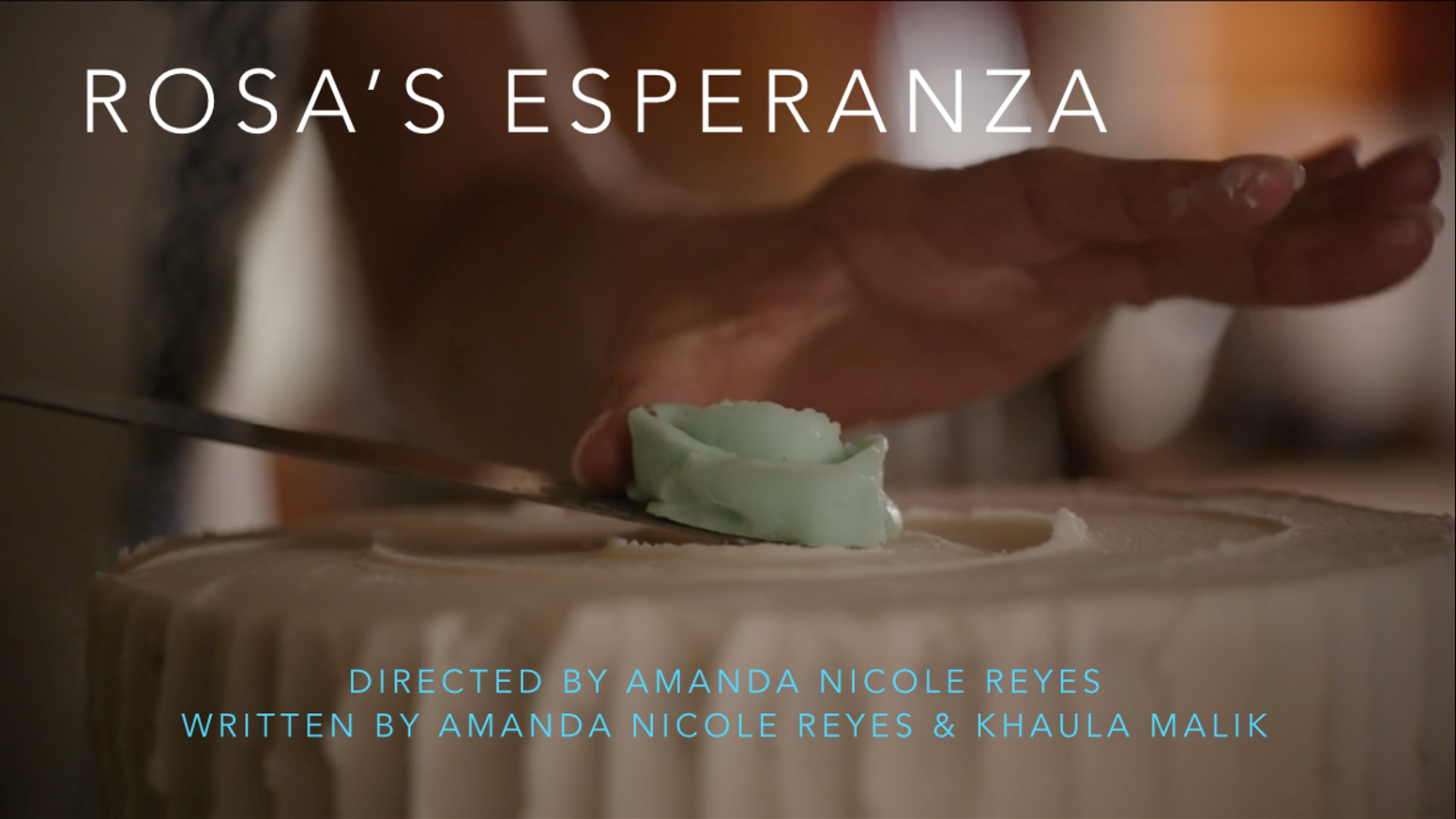 Amanda Rosa En H support indie short film - rosa's esperanzakhaula malik