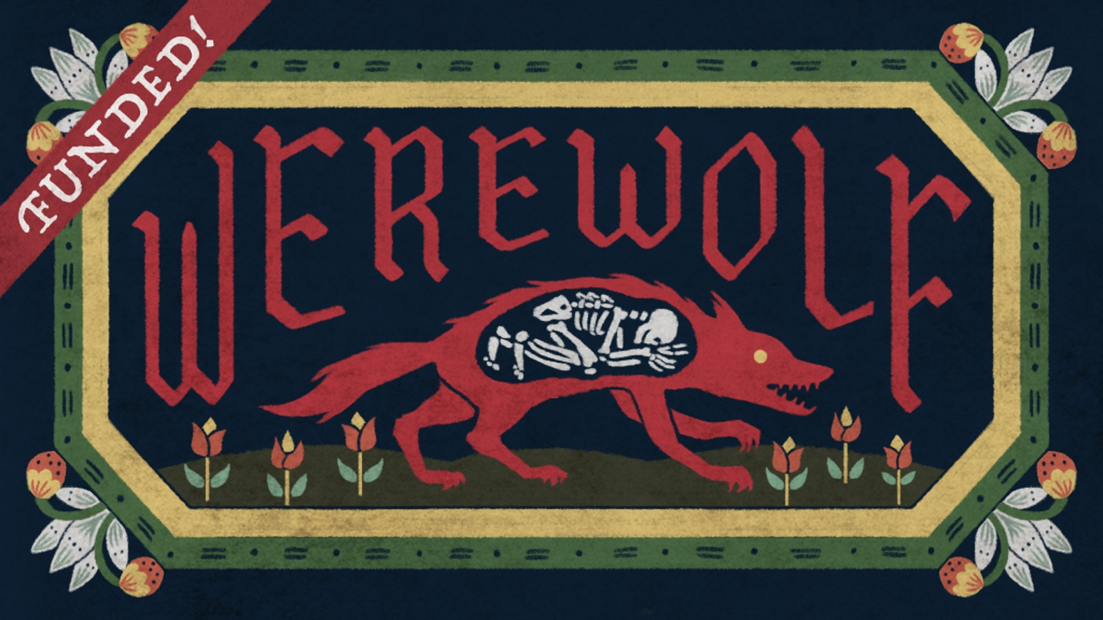 Inspired by the popular party game, Werewolf offers a host of colourful characters illustrated in a European folk art style.
