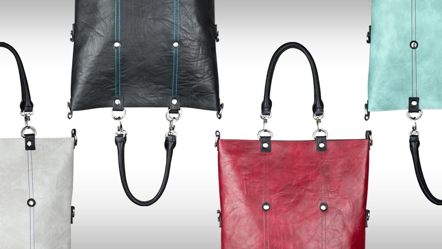 Groovi 10 Way Convertible Vegan Tote Bag