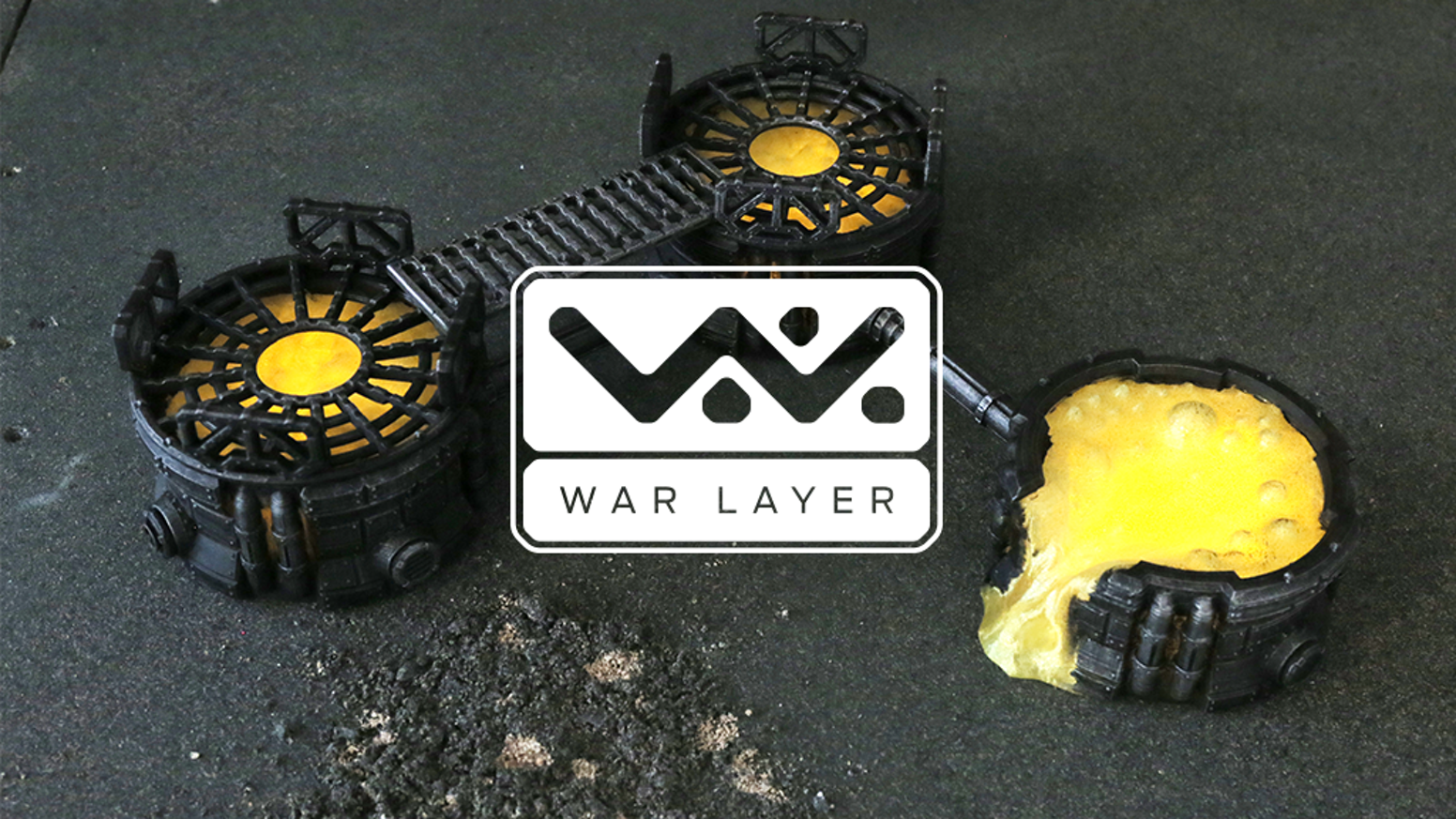 WarLayer 3D Printable Terrain: Orbital Drop by Andrew