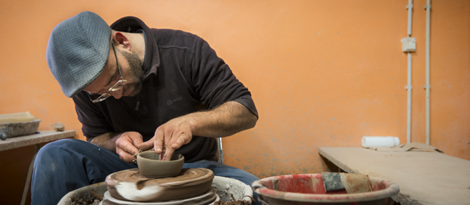 José on the Ceramic Wheel