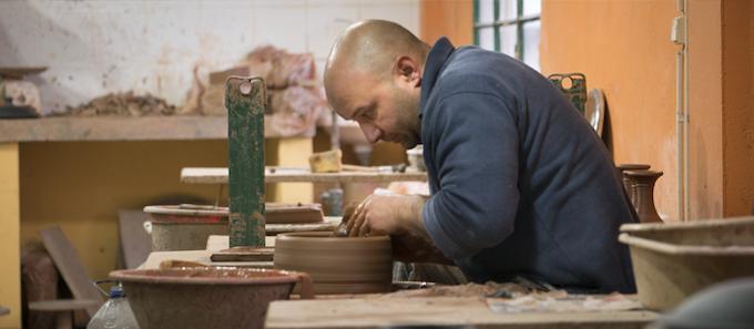 Luis on the Ceramic Wheel