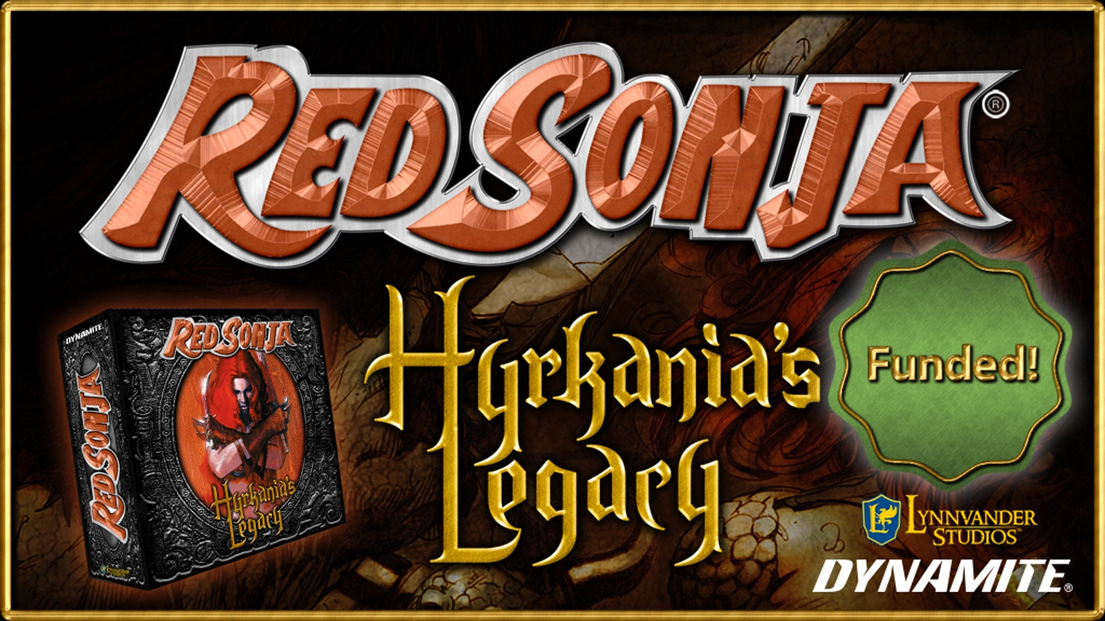 A cooperative fantasy adventure game for up to 4 players based on the Red Sonja comic books and the Legacy line of board games.
