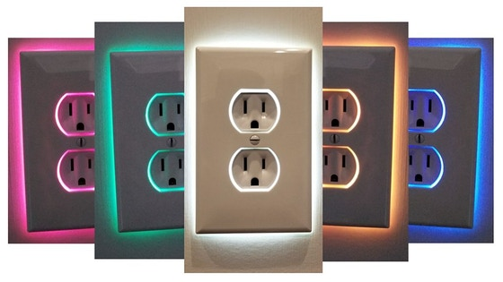 IO Edge + IOedge Color: Illuminated Outlet Covers with STYLE