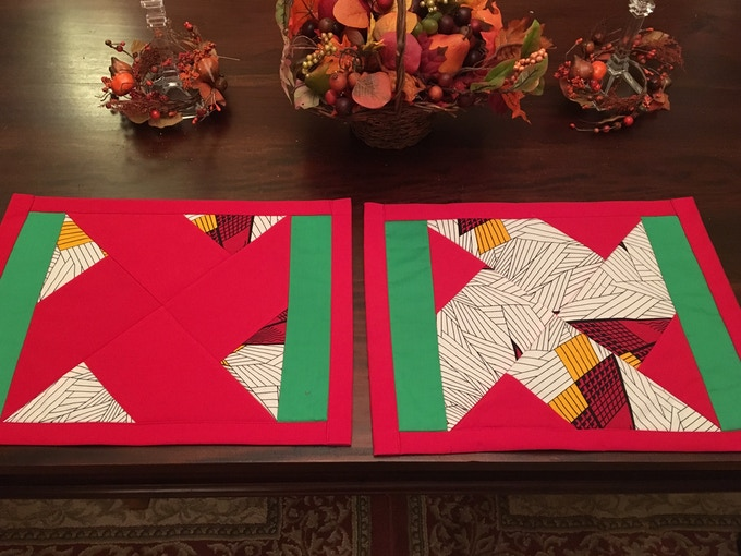 Quilted Placemats - KKK robe cloth