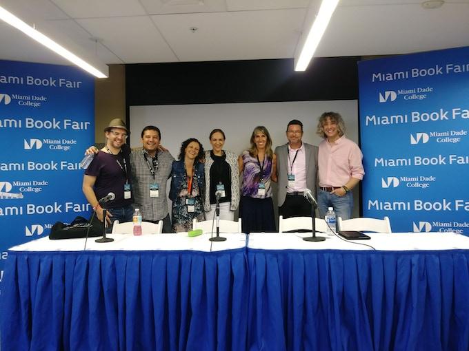 CuentoManía Crew and Finalists, Miami Book Fair 2017