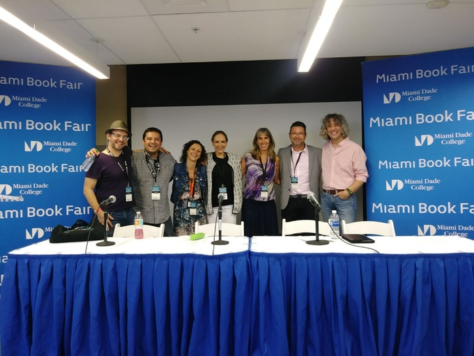 CuentoManía Crew and Finalists, Miami Book Fair 2017