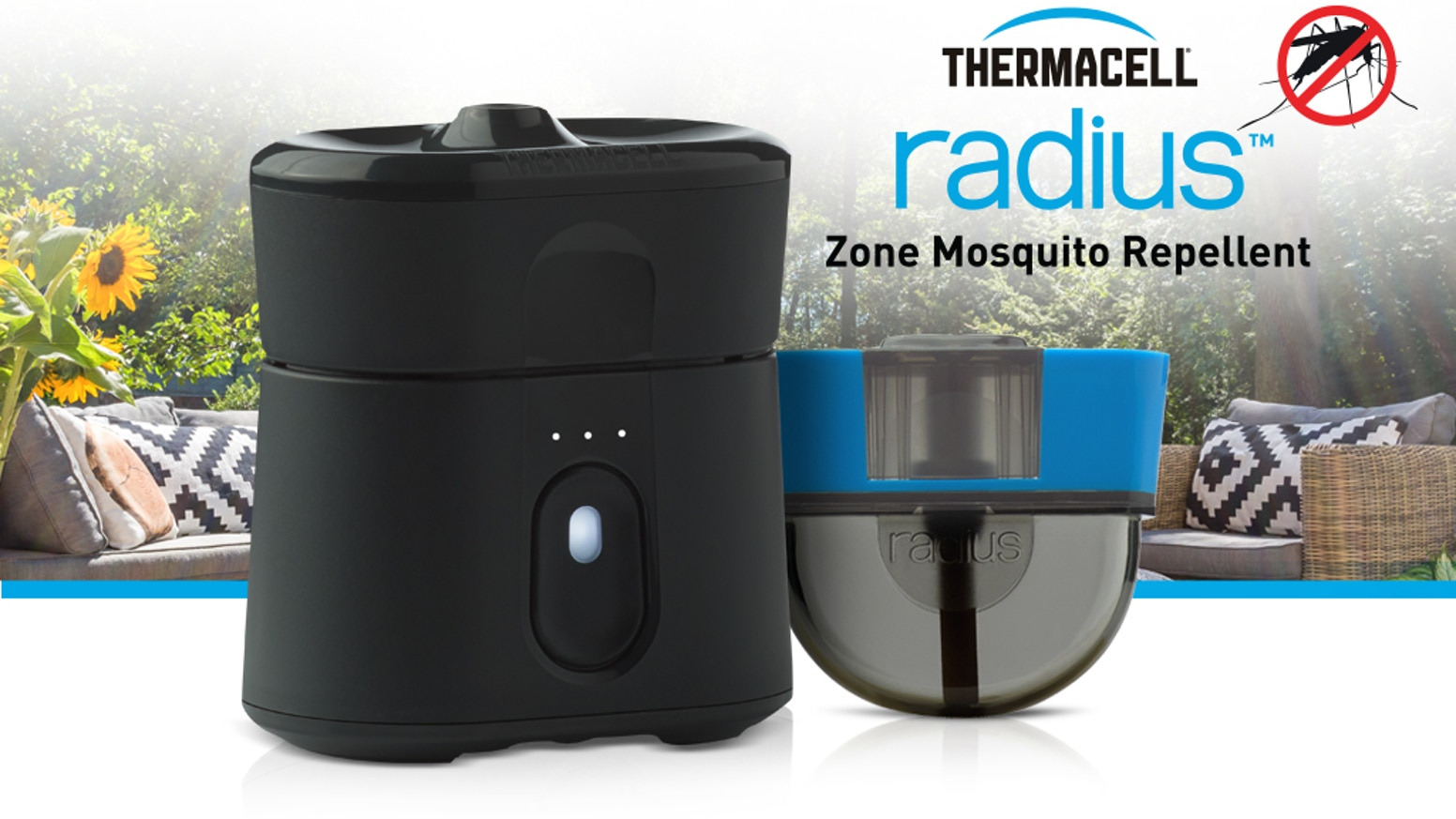 Introducing Radius, the world's first rechargeable, EPA-approved, zone mosquito repellent.