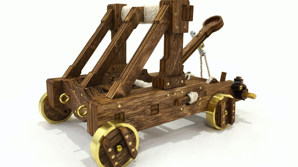 Catapult Kits - The ultimate desktop toy (Trebuchets Added!) project video thumbnail