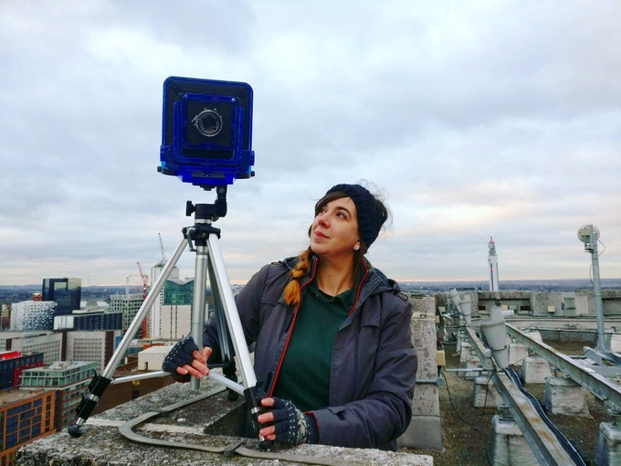 Rachel on a roof in Winter!