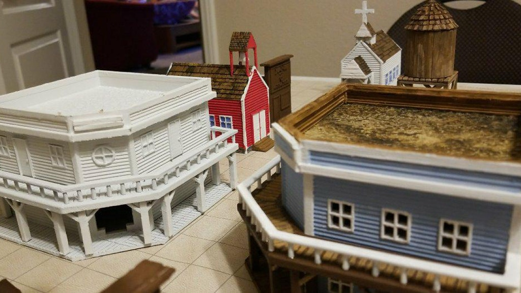 3d Printable Old West Buildings for Trains & Wargaming project video thumbnail