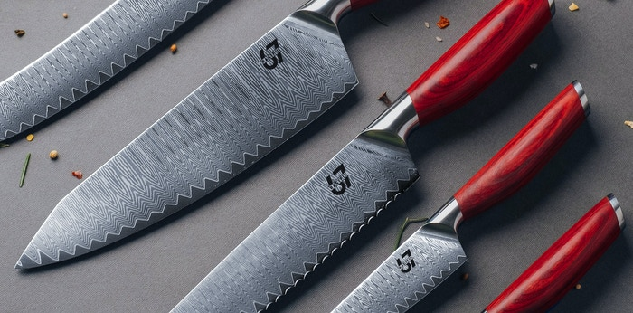 Japanese Damascus Steel Knives with Western Handle Design, The best in Sharpness, Quality, Function and Aesthetics.
