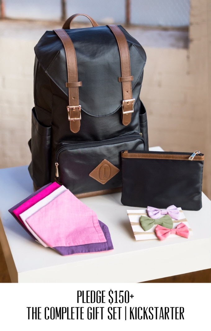 diaper bag backpack style function collide with adventure by quiver arrow kickstarter. Black Bedroom Furniture Sets. Home Design Ideas