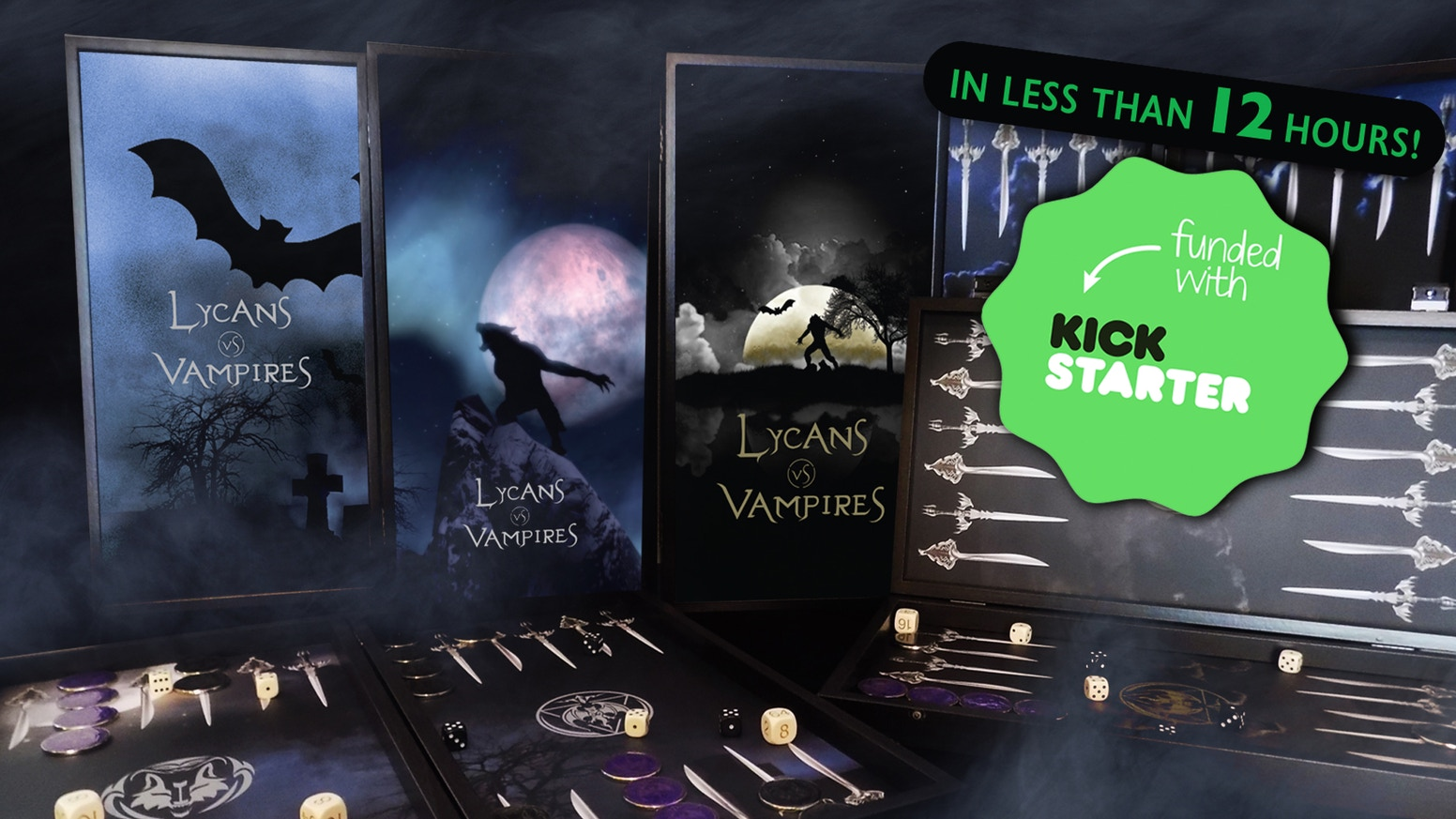 For all fantasy enthusiasts, collectors and gamers we proudly present, our Full Fantasy Backgammon Collection - Lycans vs Vampires.