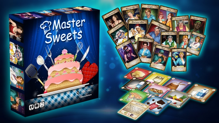 Take up the role of 1 of the 16 fancier confectioners. Play 4 game variants - competitive, player elimination, cooperative and solo.