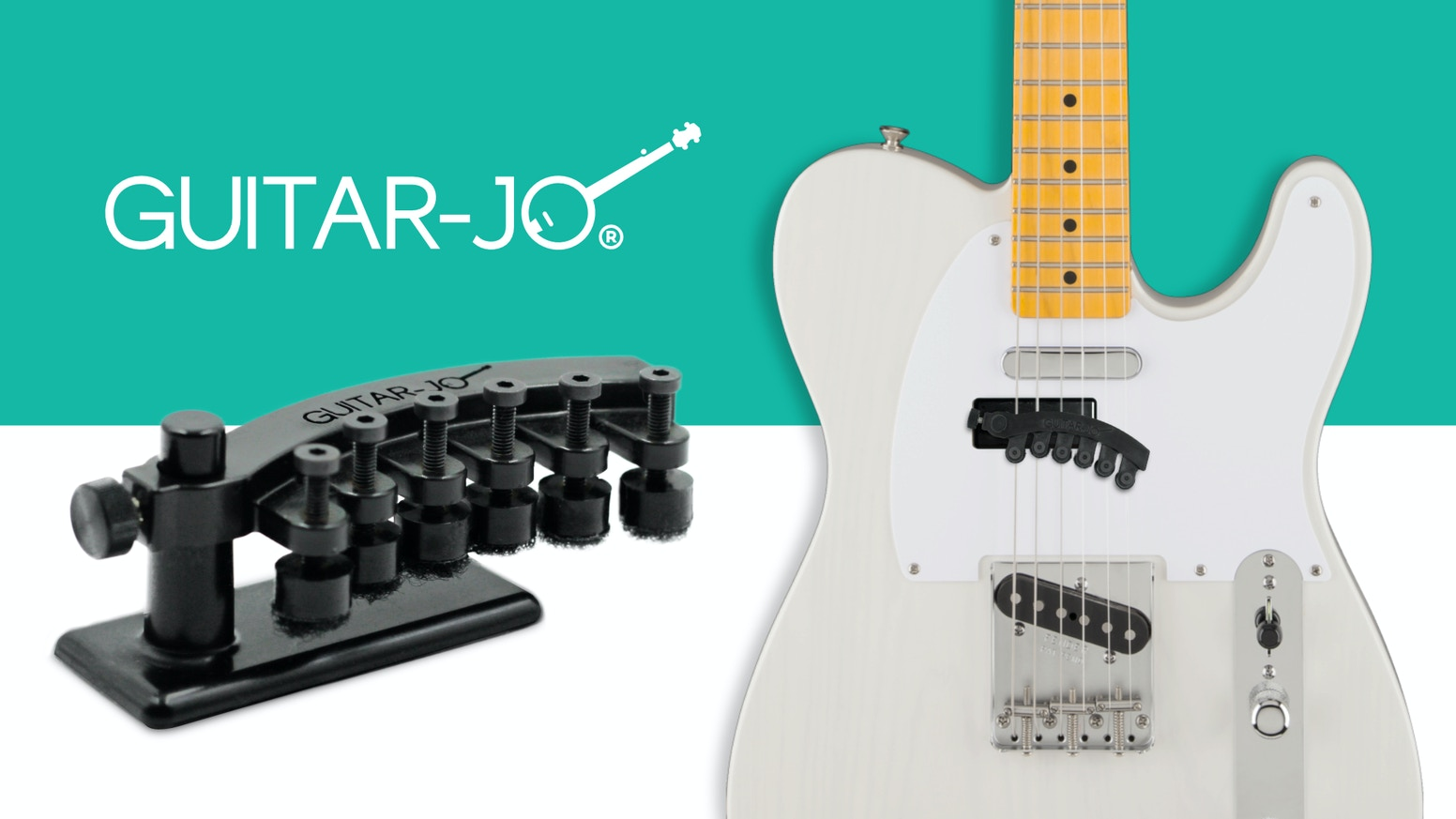The first and only electric guitar accessory that makes your guitar sound like a banjo.