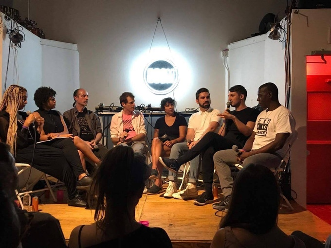 Lutz joining a panel on the Cabaret Law in Bushwick in Aug 2017