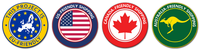 The campaign has EU, US, Canada and Australia-friendly shipping.