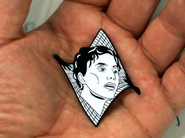 The second Wonder Women pin! It features the likeness of  Maryam Mirzakhani - the first woman to win the Fields Medal.