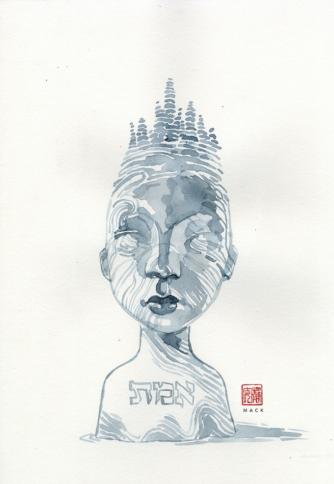 """Golem"" by David Mack! Grab this piece of art as a limited edition signed print, original autograph by David himself on each one!"