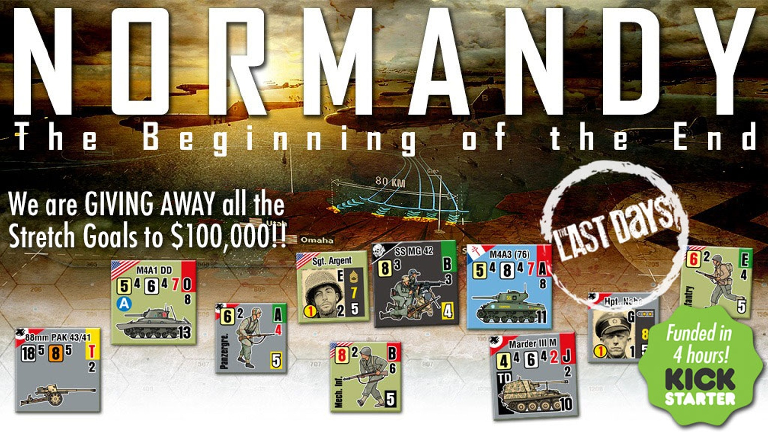 Normandy awaits you. This terrific tactical war game simulates realistic, chaotic combat at its greatest realism.