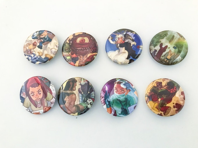 8 awesome buttons perfect for your lapel or backbag