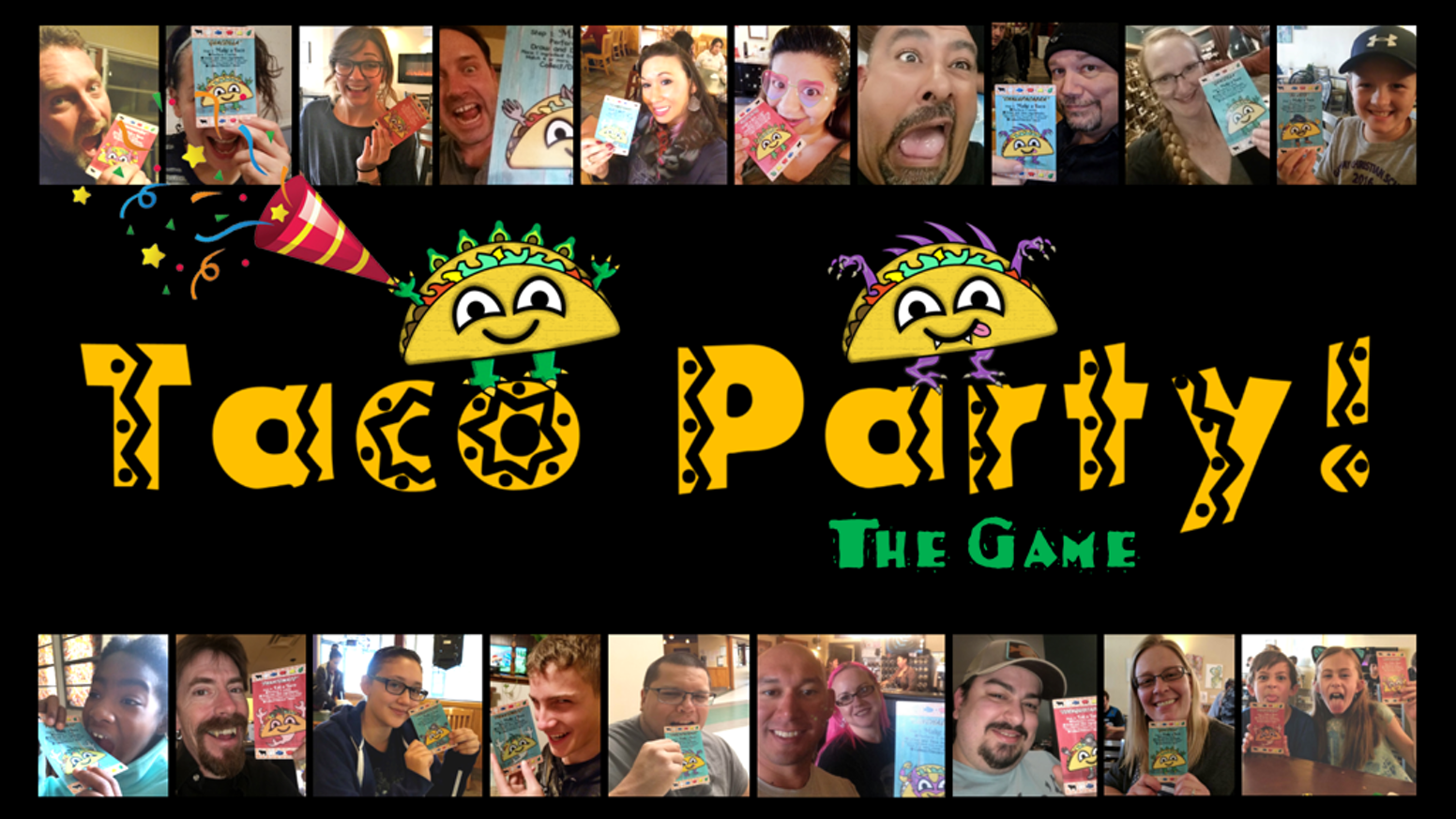 Make a taco then be the first to eat it in this family-friendly party game.  But beware, the other players will be jalapeno business!