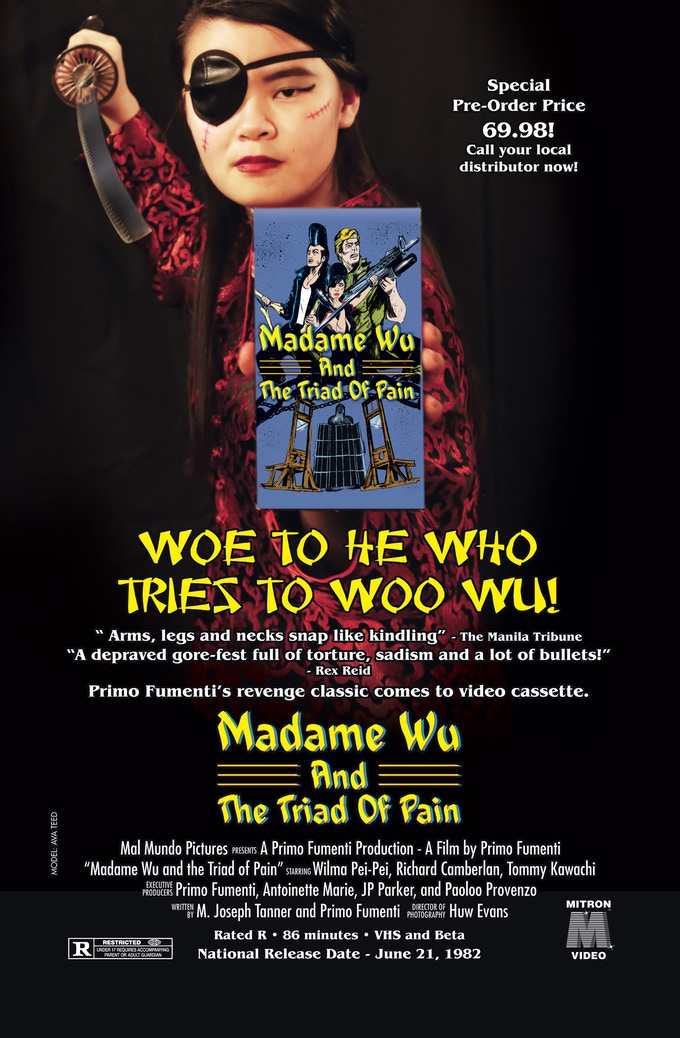 """""""Madame Wu and Triad of Pain"""" VHS Ad Print"""