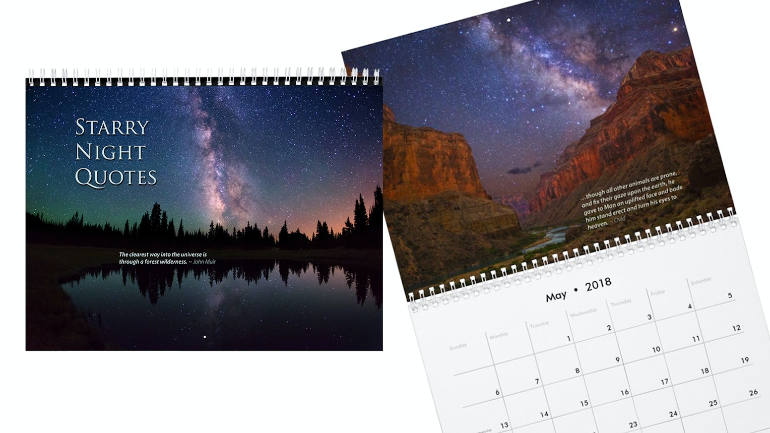 Milky Way And Starry Nights Calendar With Quotes By Royce Bair