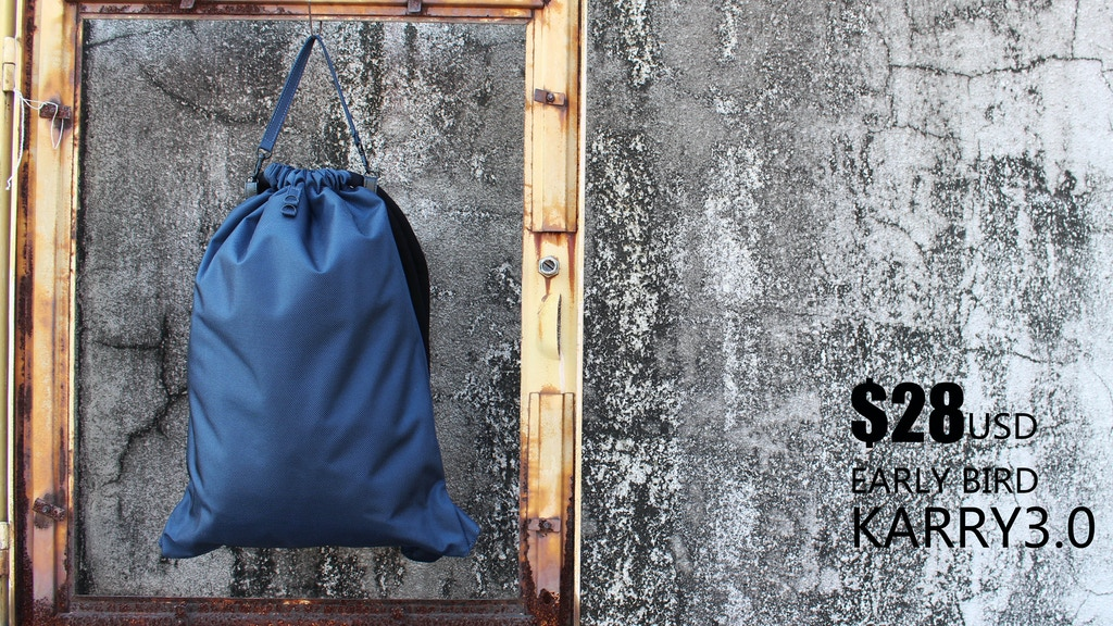 Karry3.0 minimal drawstring backpack(bag) w/ thick soft rope project video thumbnail