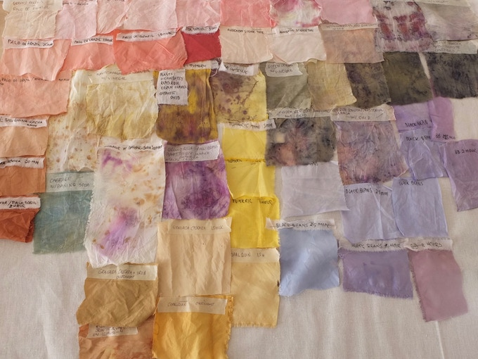 From our library of natural dye colors