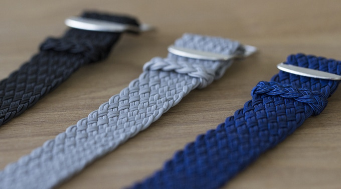 Double woven Perlon straps made in Europe