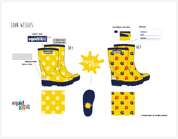 Reward #5 - Lion Wellington Boots: Sizes 2/3/4/5 years old