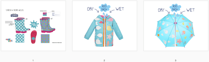 Reward #15 - Starfish Rainwear Bundle: 1. Wellington Boots (size 2/3/4/5) 2. Short Jacket (size 2/3/4/5) 3. Umbrella