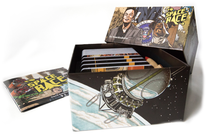 Amazing illustrations and complex strategic experience in a pocket sized card game.