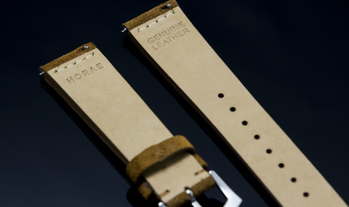 Quick-release pins ease the process of changing straps