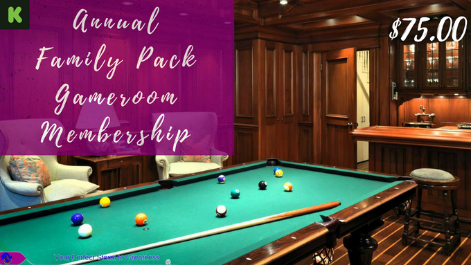 $75.00 Family Game Room Package