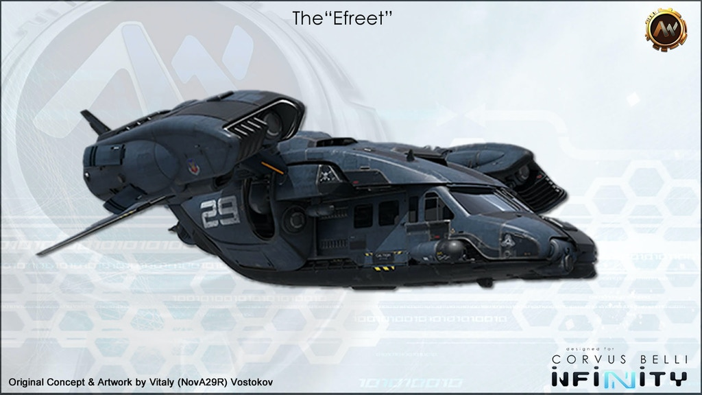 The 'Efreet' - A Sci-fi Dropship project video thumbnail