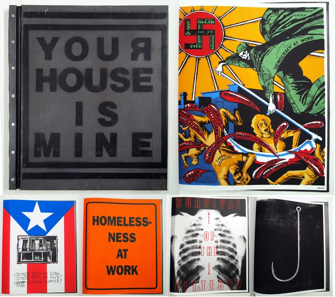 "$10,000 ""Your House is Mine,"" Artist Book, 1993. Prints by David Wojnarowicz, Andrew Castrucci, & Bullet Space. Click for more details."